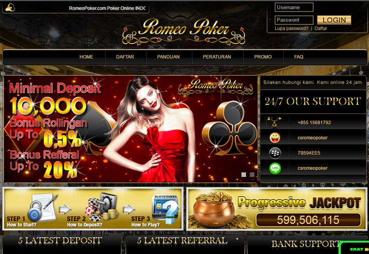 RomeoPoker - Poker Online, Domino Online, Terpercaya