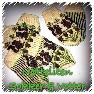 Nøtteliten votter & sokker http://www.ravelry.com/patterns/library/ntteliten-sokk--vott