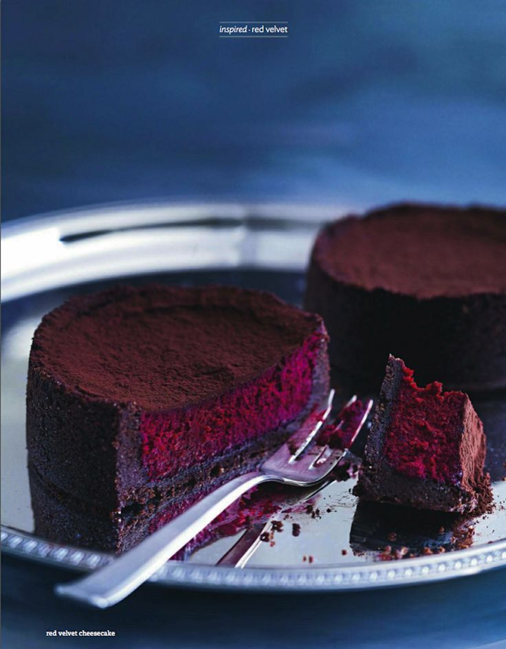 red velvet cheesecake. donna hay