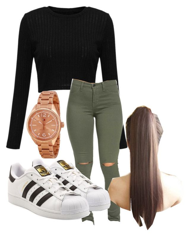 """""""hey."""" by rabiamiah on Polyvore featuring Tommy Hilfiger and adidas Originals"""