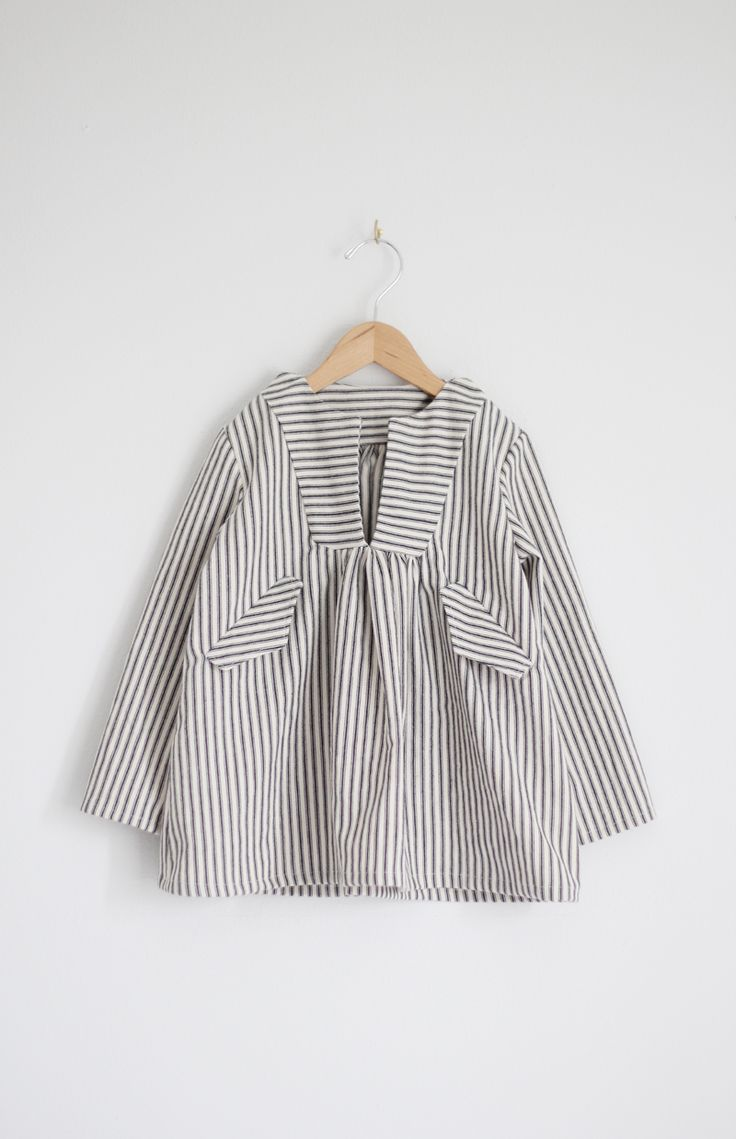 Gorgeous ticking stripe top from Sanae Ishida.