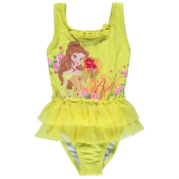 Girls Disney Princess Belle Tutu Swimsuit
