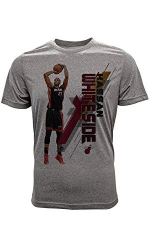 Hassan Whiteside Miami Heat T-Shirt Youth Fadeaway Large