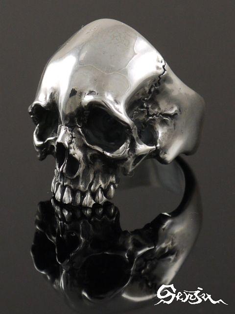 Senju [Rg-2 Meditation] (silver accessory / Silver925 / ring /skull ring)
