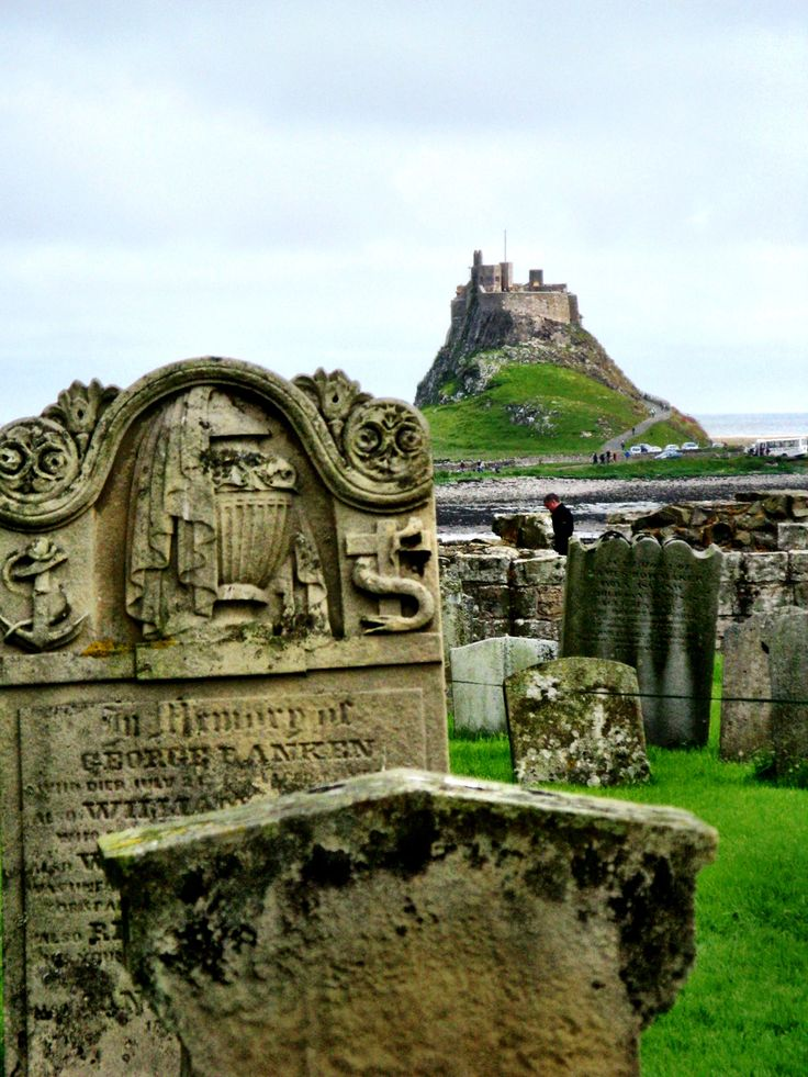 Holy Island Lindisfarne, England with castle in the background!