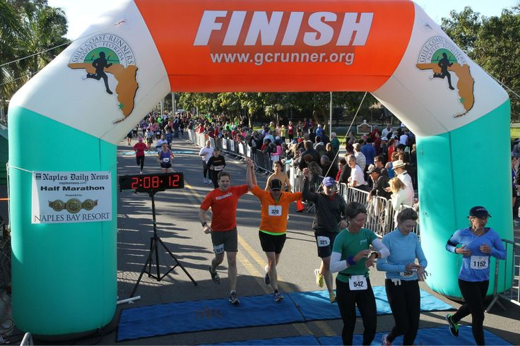 Completing my first 1/2 marathon with our two sons in Naples, FL