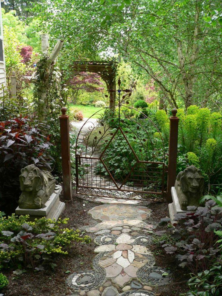 Artisan Gate in garden