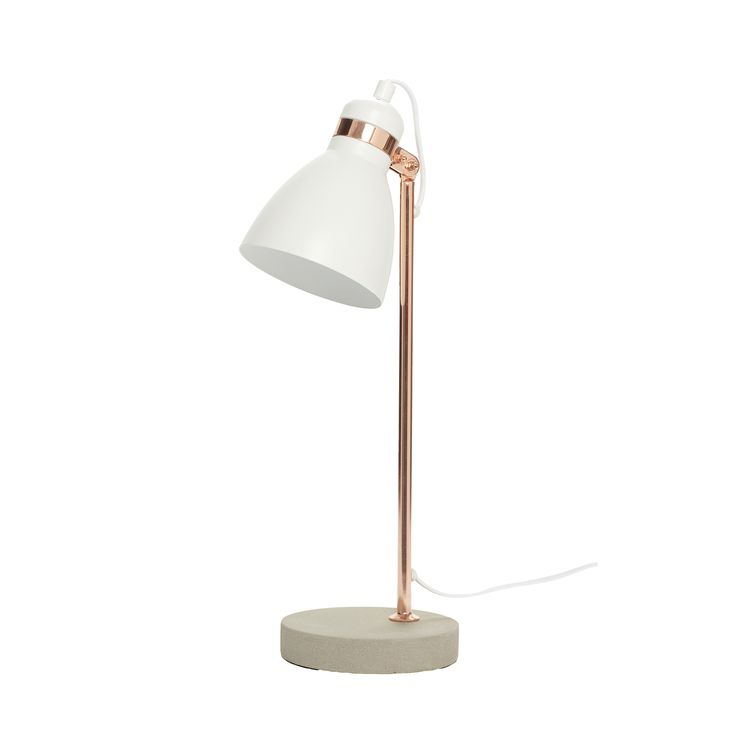 Metal and concrete table lamp. Product number: 370217 - Designed by Hübsch