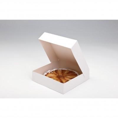 Doos voor taart en gebak - wit - 26x26x5 cm - per 50 stuks-
