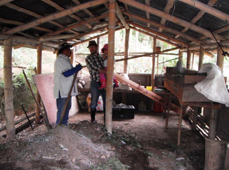 Fábrica de Abono Orgánico. Finca El Descanso de Waldo Anacona y Luz Angélica Guerrero, vereda Loma Alta, Dagua. Valle del Cauca (CO)