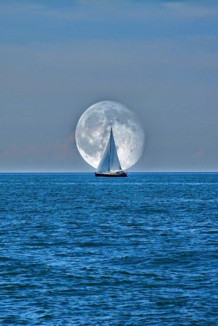 full moon and a catalyst #Sailing #sailboat #Moon