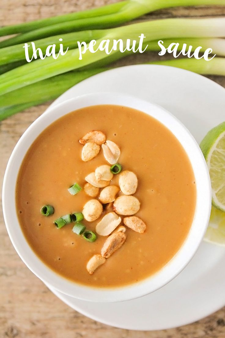 This sweet and savory thai peanut sauce is perfect for stir fry, noodles, and dipping. So delicious you'll want to eat it with a spoon!