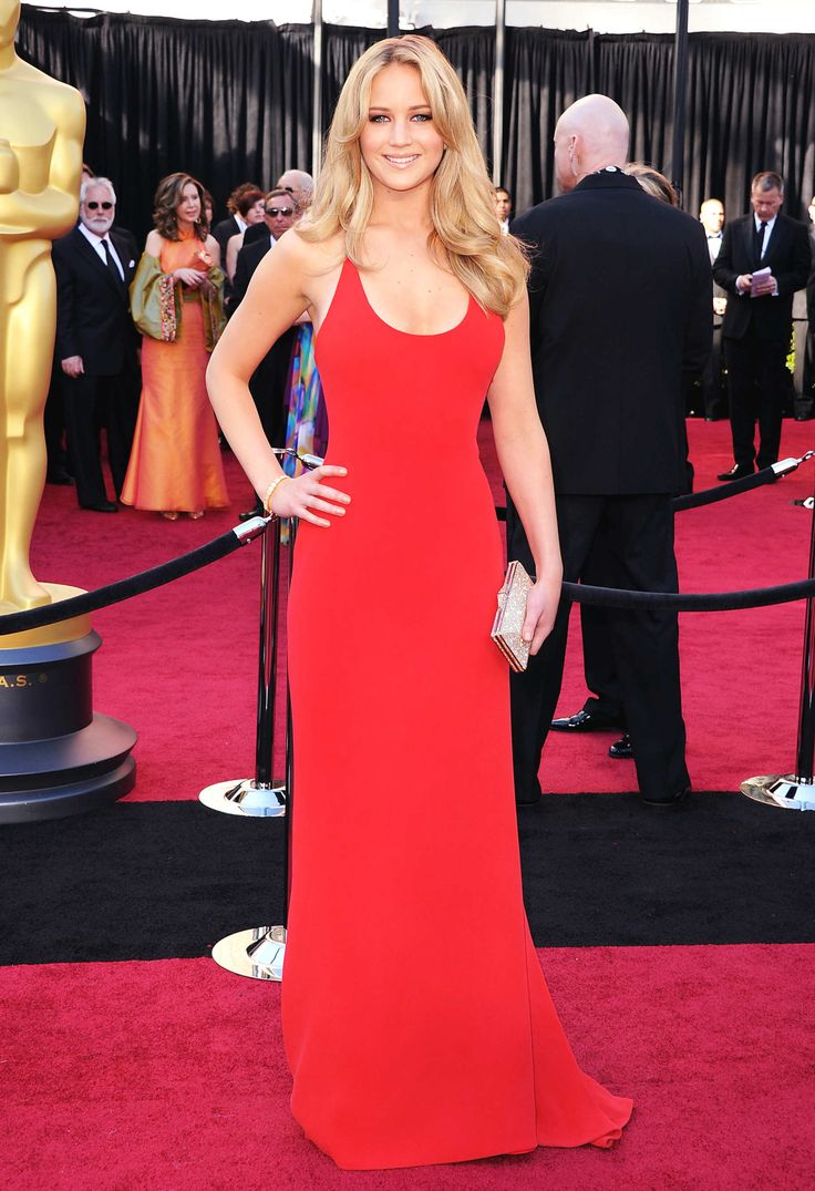 Jennifer Lawrence in that Gorgeous Red Dress.