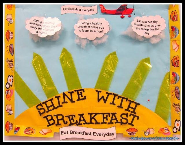 breakfast bulletin board ideas   These next three were in the school cafeteria in Parrish, FL.