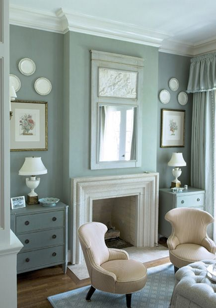 dont like the colour, but like the mirror above the fireplace