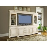 """Paula Deen Home""""Savannah Lighted Entertainment Center in Linen*** Check out all of Paula Deans Furniture. I have dining table & hutch. Love it!!"""