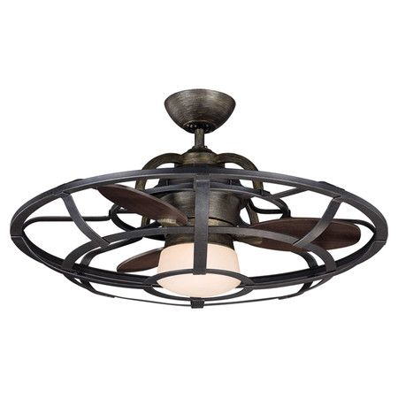 bring breezy style to your living room or den with this ceiling fan - Industrial Ceiling Fans