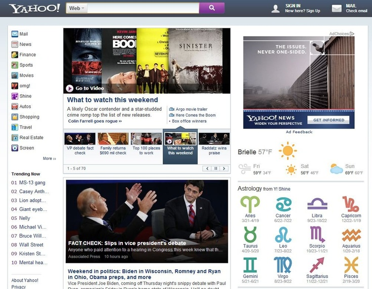 HERE IT IS: Marissa Mayer's New Yahoo.com Homepage    Read more: http://www.businessinsider.com/marissa-mayers-new-yahoocom-homepage-2012-10#ixzz29GLwTqMM