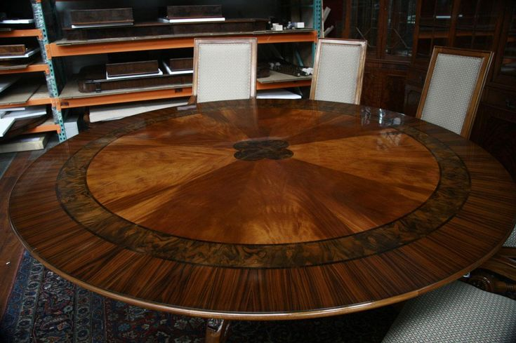 I Would Love To Have Room For This Large Round Dining Table  84 Classy Large Round Dining Room Tables Design Ideas