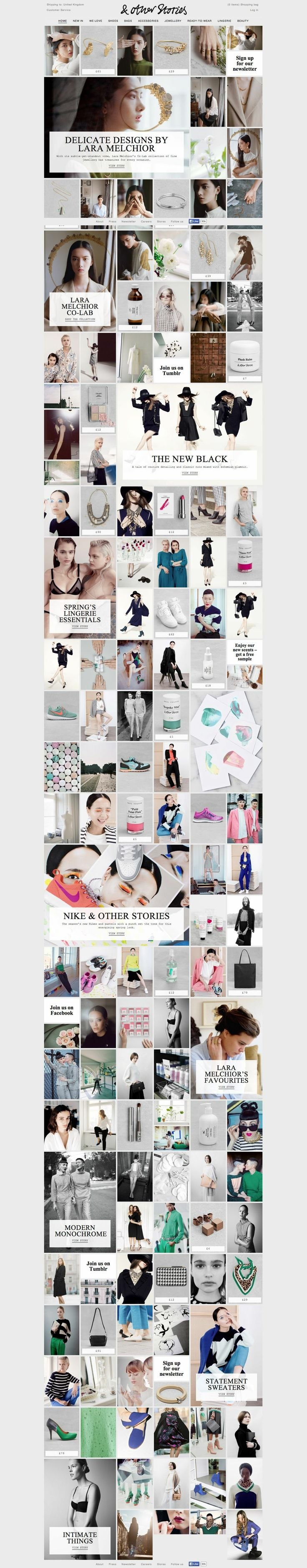 & Other Stories Homepage #webdesign