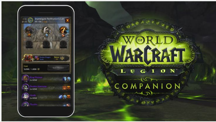 Legion companion app for World of Warcraft coming soon   Multitasking. Its a great thing to be able to do when youre on the move. You know what isnt great? Not being able to be in two places at once especially when you want to get some missions and things done but youre stuck at work having to proofread memos because people dont know how to use spellcheck.  At any rate Blizzard has decided that people really should have access to their mission hubs while on the go and have decided to help…