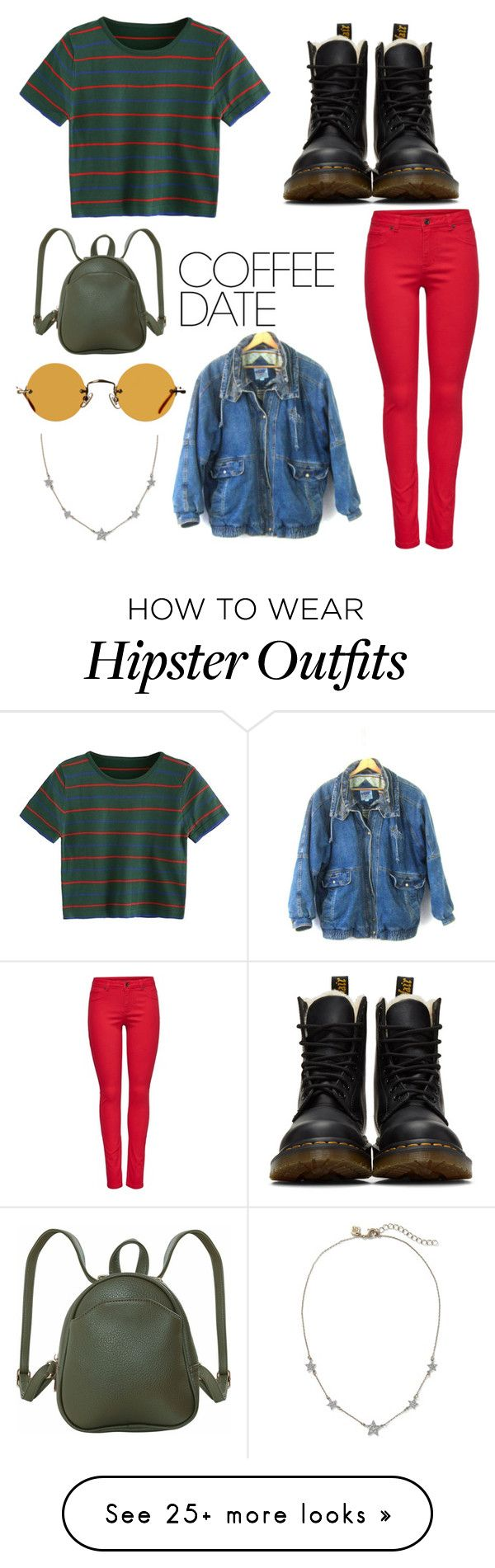 """""""Coffee Date Look 90's"""" by kailxx on Polyvore featuring M&Co, Dr. Martens, Humble Chic, Hakusan and CoffeeDate"""