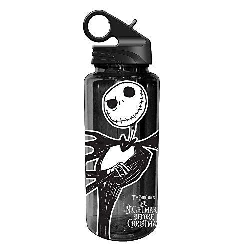 Silver Buffalo NB1664 Disney Nightmare Before Christmas Jack Skellington Tritan Water Bottle, 20 oz, Black  The Silver Buffalo NB1664 Disney Nightmare Before Christmas Jack Skellington Tritan Water Bottle is a stylish way to have water or other refreshing drinks on the go. The convenient flip up straw folds flat when not in use.
