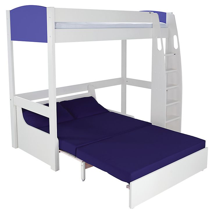 Stompa Duo Uno S Highsleeper Blue Including Double Sofa Bed