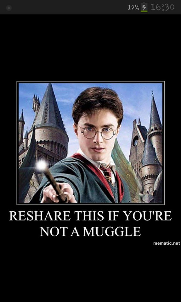 You now, we can always sense the muggle presence.