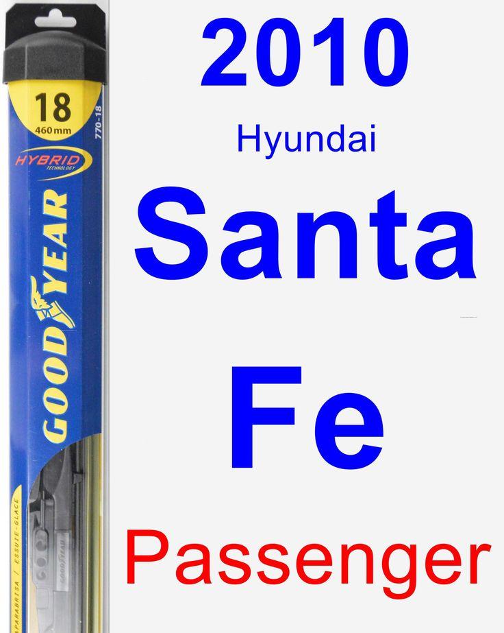Passenger Wiper Blade for 2010 Hyundai Santa Fe - Hybrid