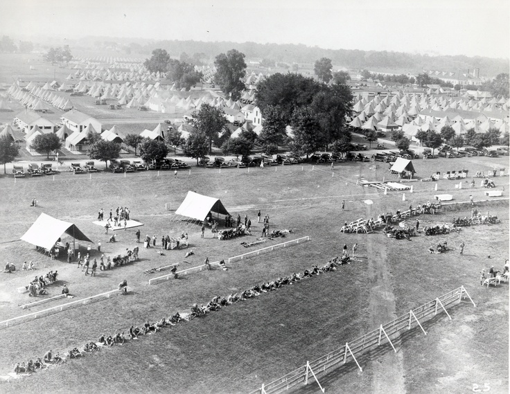 Camp Perry from the air, circa 1923. Camp Perry