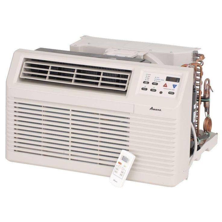 9,300 BTU 230-Volt 26 in. Through-the-Wall Air Conditioner with Remote, Beige/Bisque