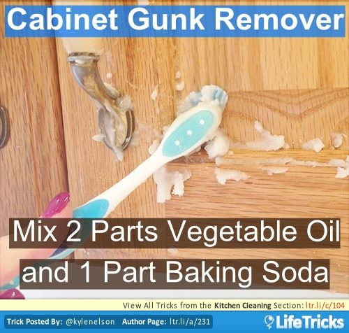 Clean Grease Kitchen Cabinets: Kitchen Cabinet Gunk Remover And Lots