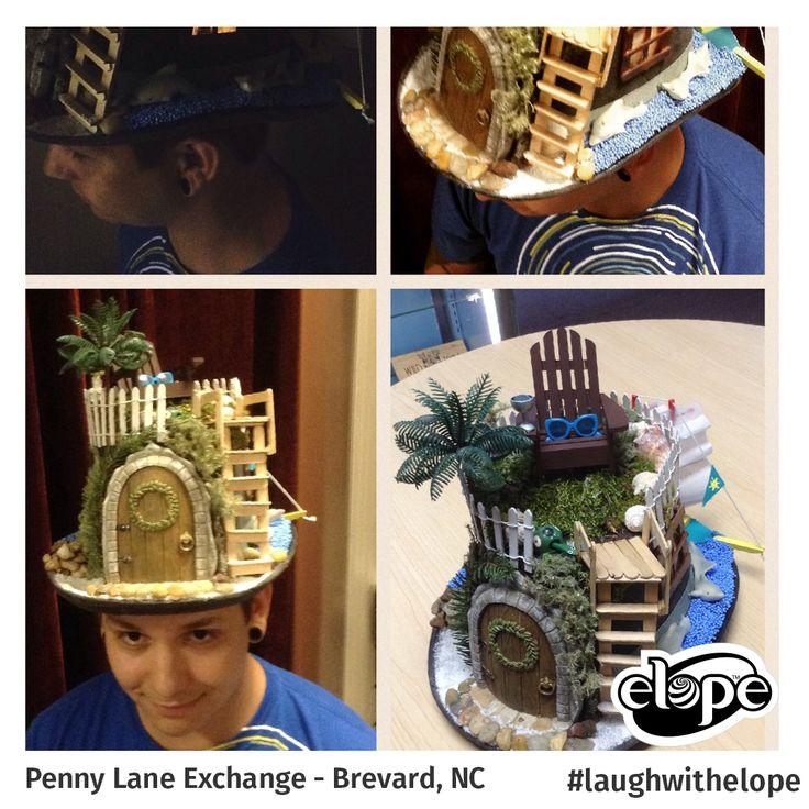 """Island Retreat"" by Robert Ashworth Penny Lane Exchange - Brevard, NC  Vote for this hat: http://woobox.com/27q2tb"