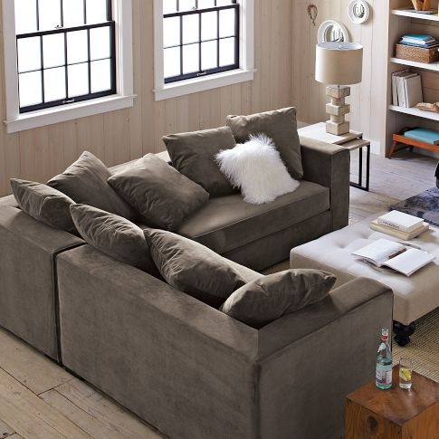 Walton Sectional...in otter! Ooooh soon need this in my bedroom | For the Home | Pinterest : walton sectional - Sectionals, Sofas & Couches