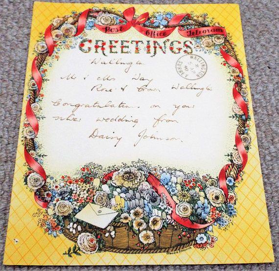 Vintage 1940 GPO Greetings Telegram  Post Office  Claudia