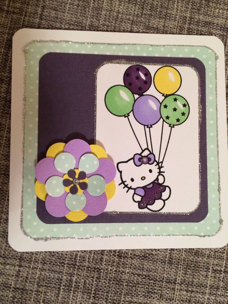 Hello kitty-kort til ei lita jinte