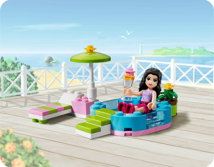 15 best fiesta de lego images on pinterest for Piscina lego friends