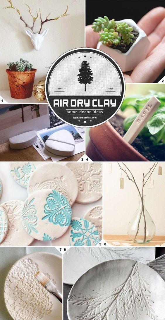 Home Decor Ideas Using Air Dry Clay Craft Ideas Clay Air Dry