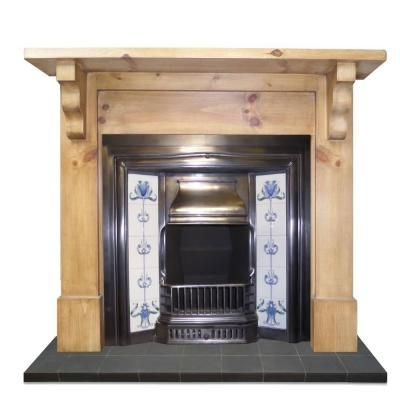 Traditional Plain Corbel Reclaimed Pine Surround
