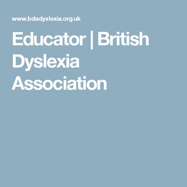 Educator | British Dyslexia Association