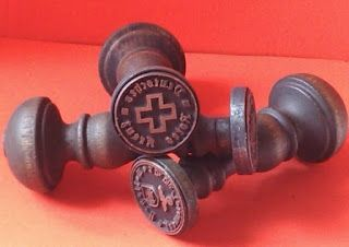 DRK NAZI GERMAN RED CROSS DEUTSCHE ROTES KREUZ STAMP INK SEAL INK STAMP GERMAN WW2 PRICE $39