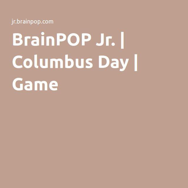 BrainPOP Jr.   Columbus Day   Game