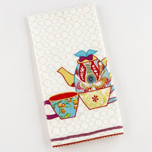 Appliqué Tea Pot Tea Towel: Kitchens Towels, Teas Towels Appliqué, Teas Pots, Pots Teas, Teas Towelappliqué, Towels Appliqué Teas, Tea Pots, Teas Ideas, Pots Towels