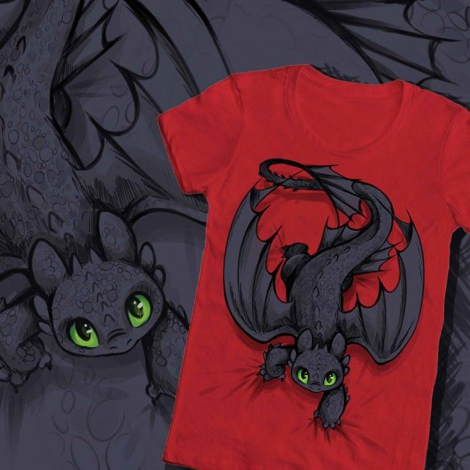 How to Train Your Dragons Design Contest - WeLoveFine -T-shirts designed for fans by fans