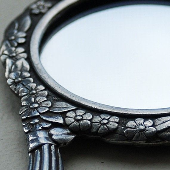 little vintage mirror Handmade accessory by JunqueTreasures