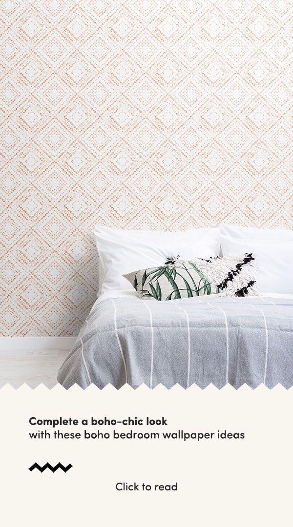 Be Inspired By These Sweet Boho Bedroom Ideas And Create A Free Spirited Space To Rest And Unwin Feature Wall Bedroom Wallpaper Design For Bedroom Boho Bedroom Boho bedroom wallpaper ideas