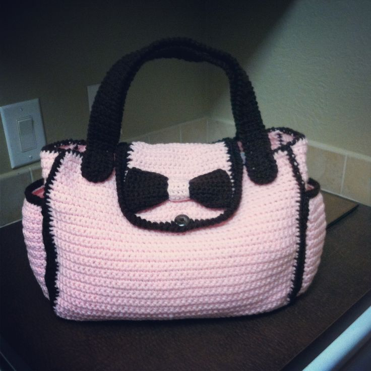 Crochet diaper bag... No pattern just inspiration