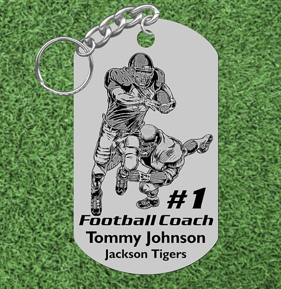 FOOTBALL Coach Gift Personalized FREE with by BlueMoonLaserShop, $7.95