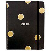 Kate Spade 2018 Academic Planner Color: Black and Gold Dot Size: Medium